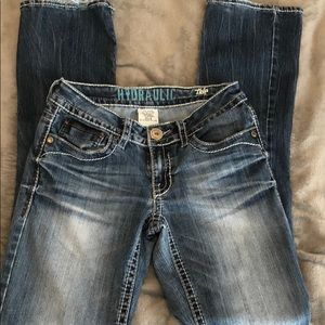 Size 3/4 Hydraulic Flare Jeans